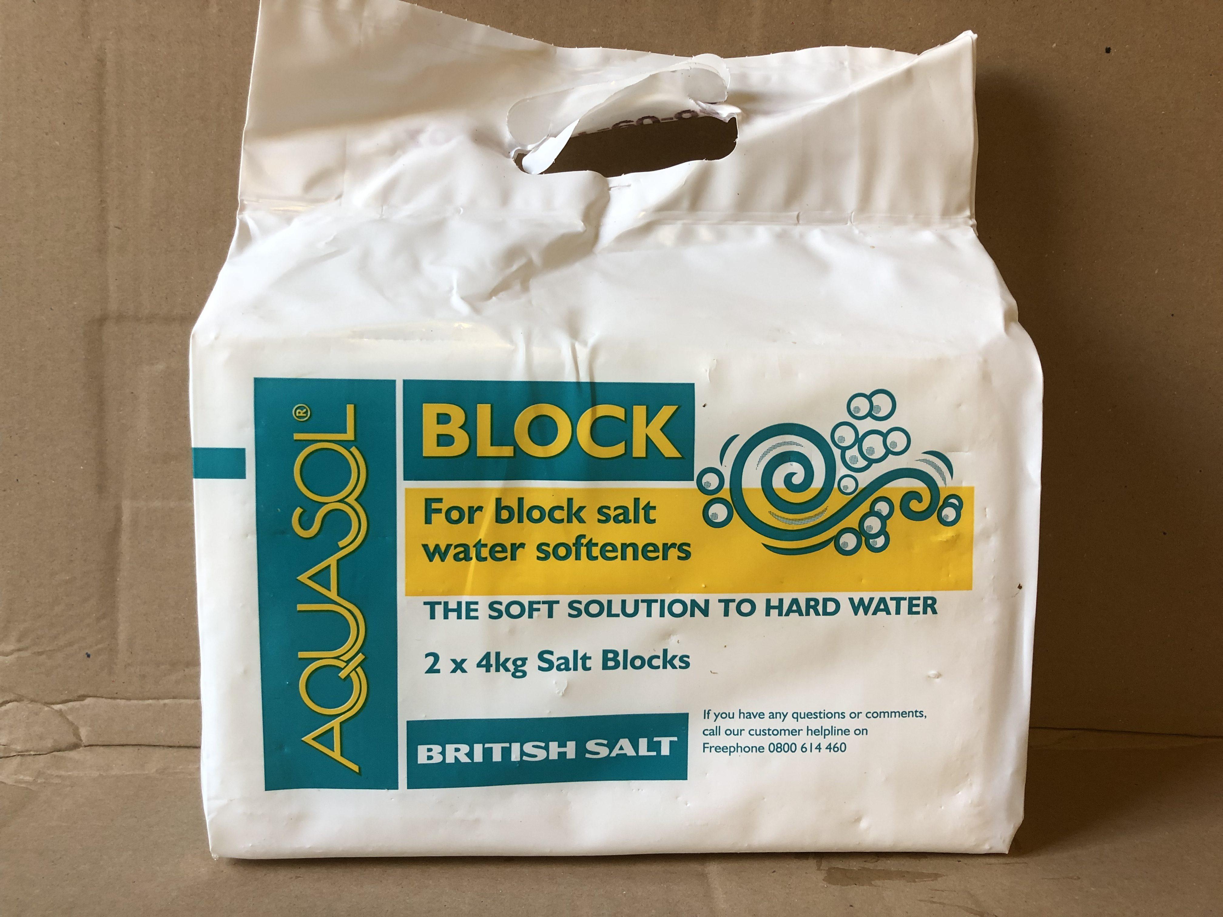 Aqusol Blocks Salt For Water Softeners